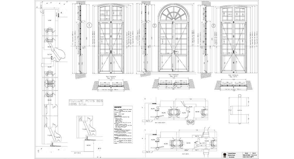plan de fenêtre monumentale