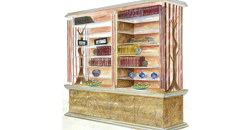 bibliothèque contemporaine sylvalux bois verre frene