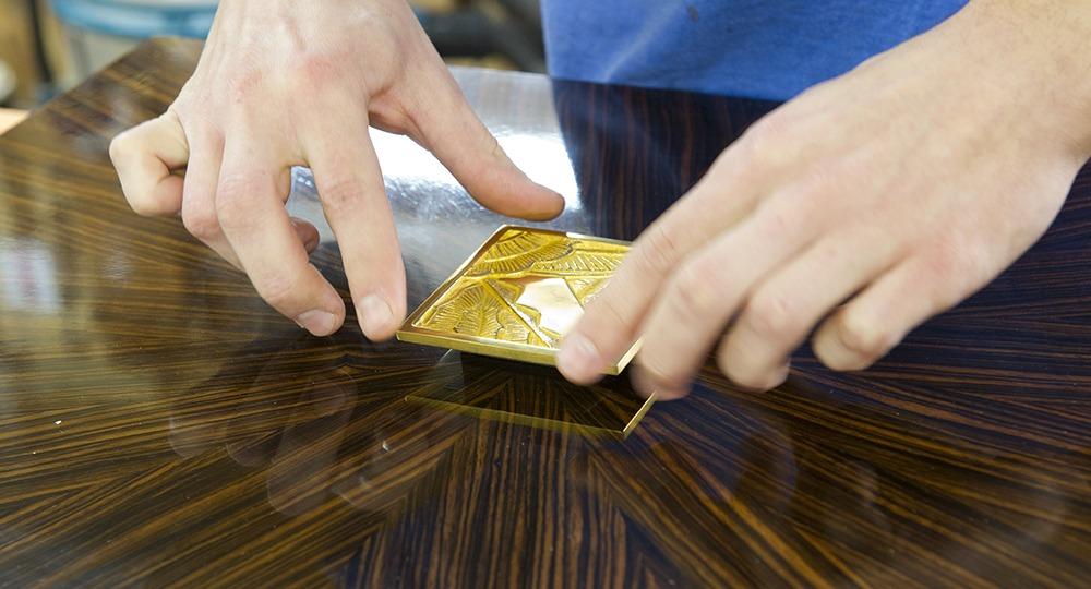 quincaillerie bronze doré montage